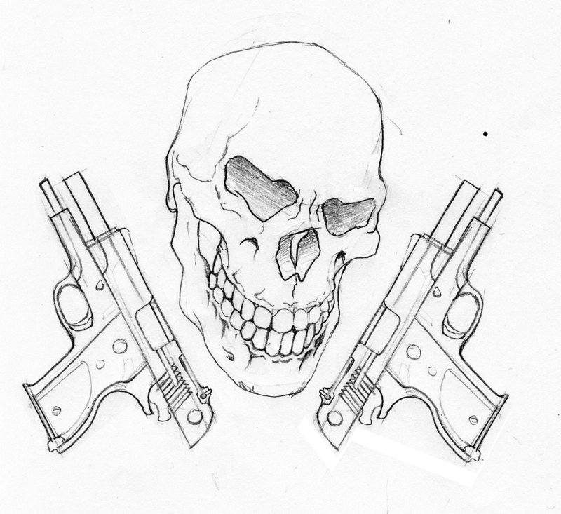 Hand Holding Gun Drawing At Getdrawings