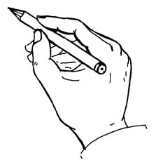 223x228 Hand Holding Pencil Clipart