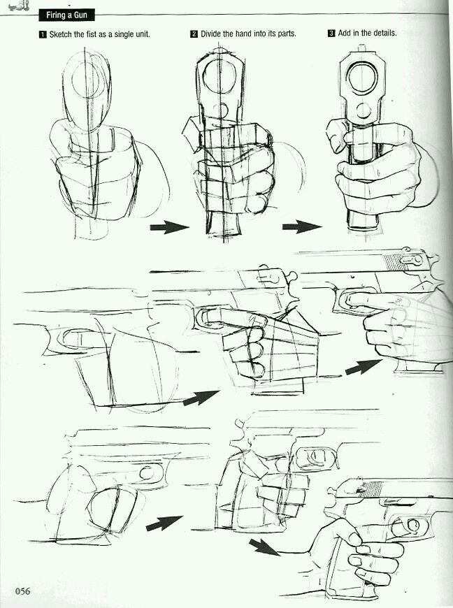 648x870 Holding Guns, Always Fun To Draw!! Drawing Tips