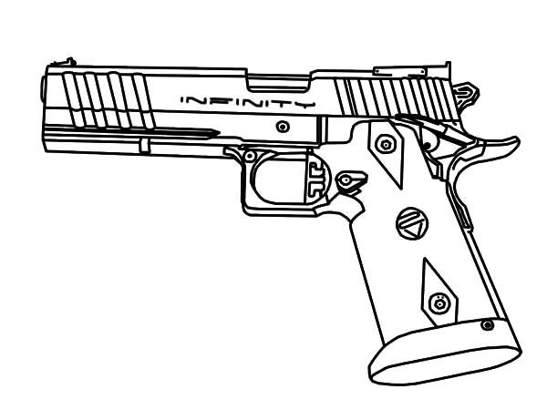 600x450 Pistol Coloring Pages