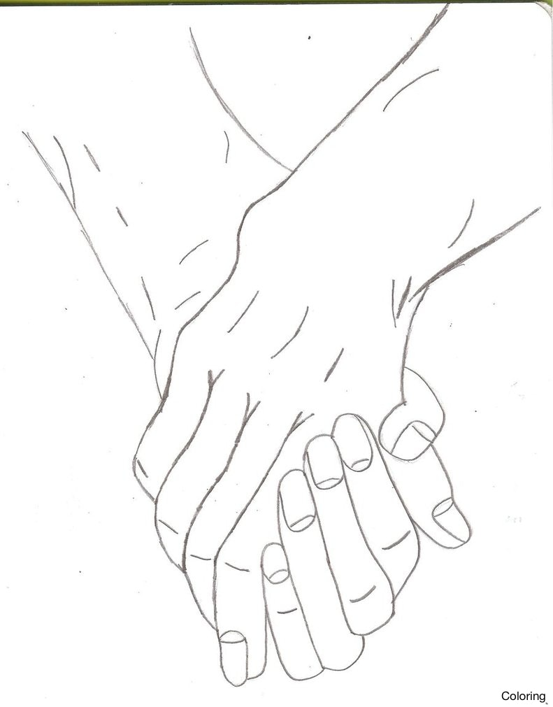 791x1011 Pencil Drawings Of People Holding Hands Couples Live To Draw