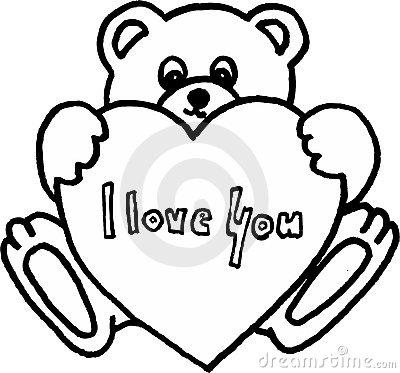 400x373 Drawn Teddy Bear Heart Drawing