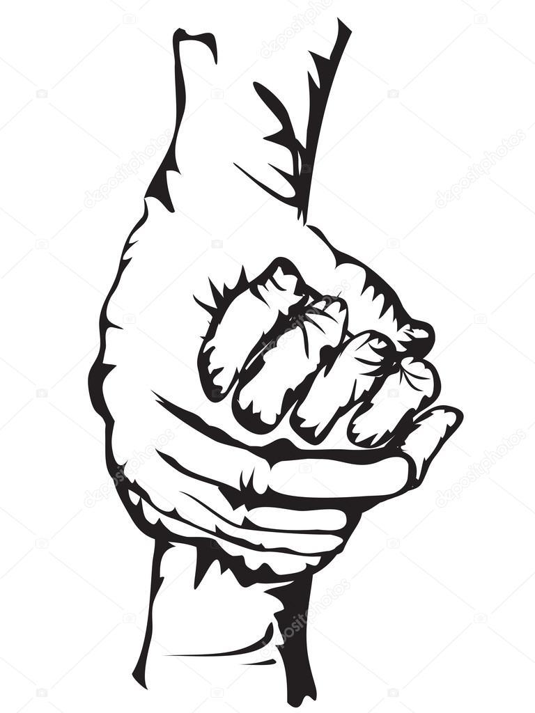 768x1024 Hand Holding Human Heart Drawing