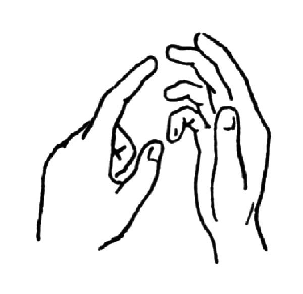 600x581 Hands Holding Big Heart Coloring Pages Best Place To Color