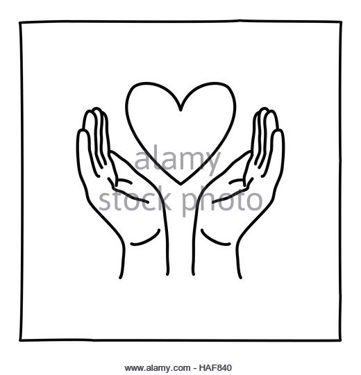 520x540 Hands Holding Heart Black And White Stock Photos Amp Images