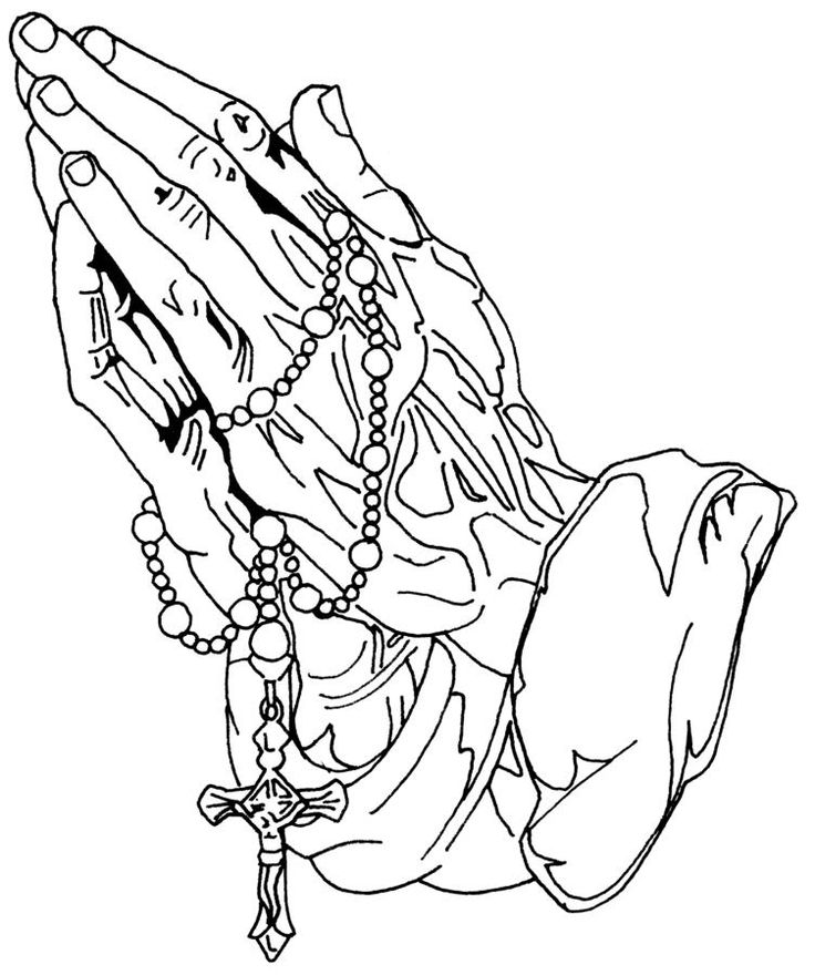 736x880 Praying Hands Holding A Cross Collection