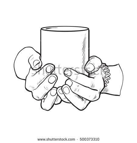450x470 Drawn Mug Hand Holding