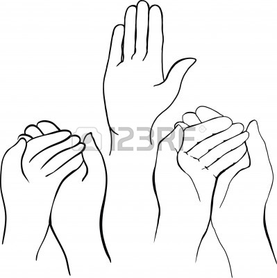 399x400 Hand Holding Something Drawing