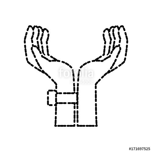 500x500 Hands Holding Something Icon Vector Illustration Graphic Design