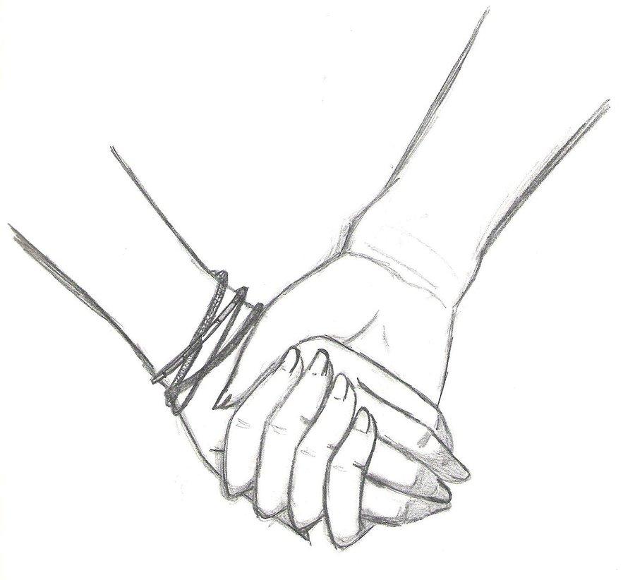 900x822 Holding Hands By Kyuketsuki0