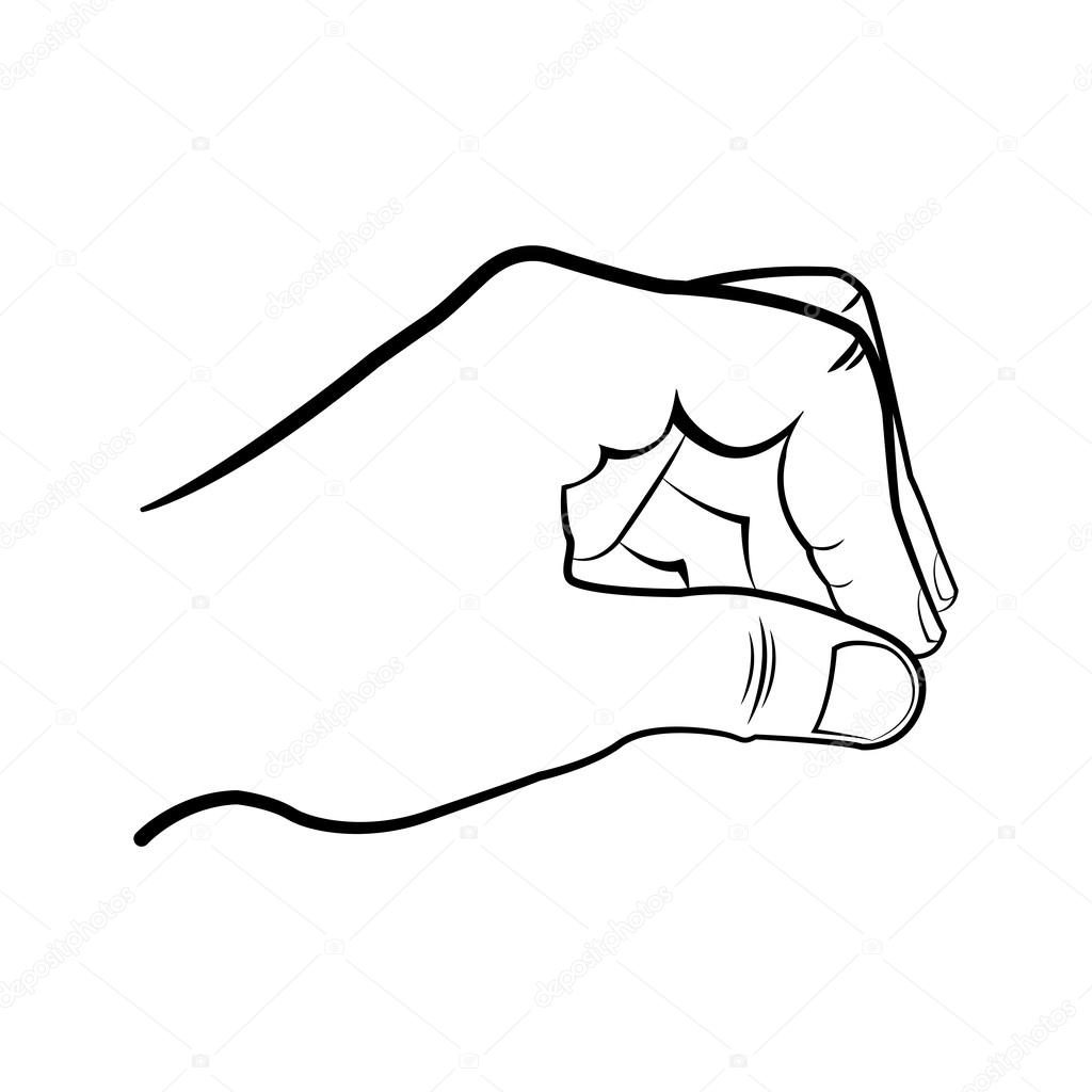 1024x1024 Image Gallery Of Hand Sketches Holding Something