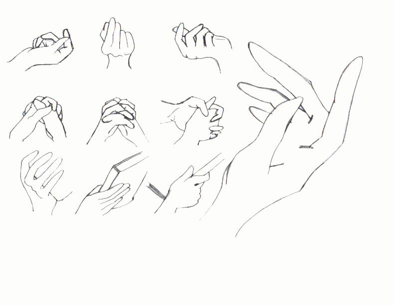 790x612 Random Hand Poses By Homonculus1568