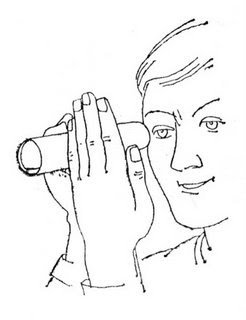 246x320 Binocular Vision Optical Illusion See Through You Hand Illusion