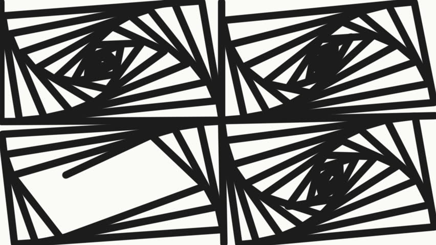 852x480 Geometric Lines Abstract Background Animation. Linear Drawings