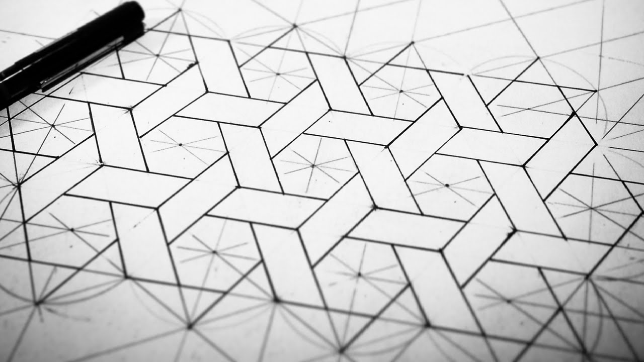 1280x720 Hexagons Weaved [How To Draw]