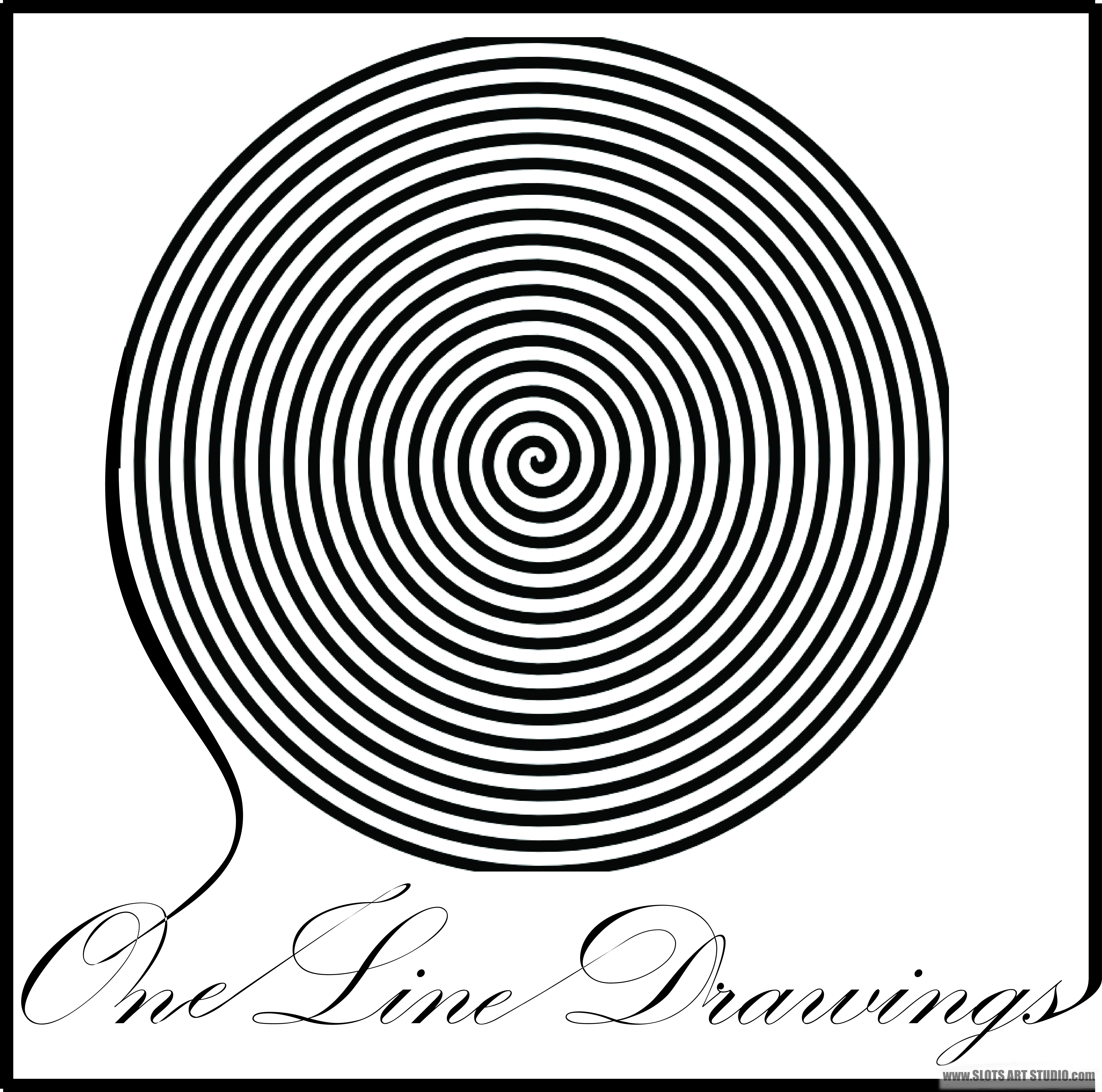 5193x5146 One Line Drawings By Artist, Michael Slotwinski, Slots Art Studio