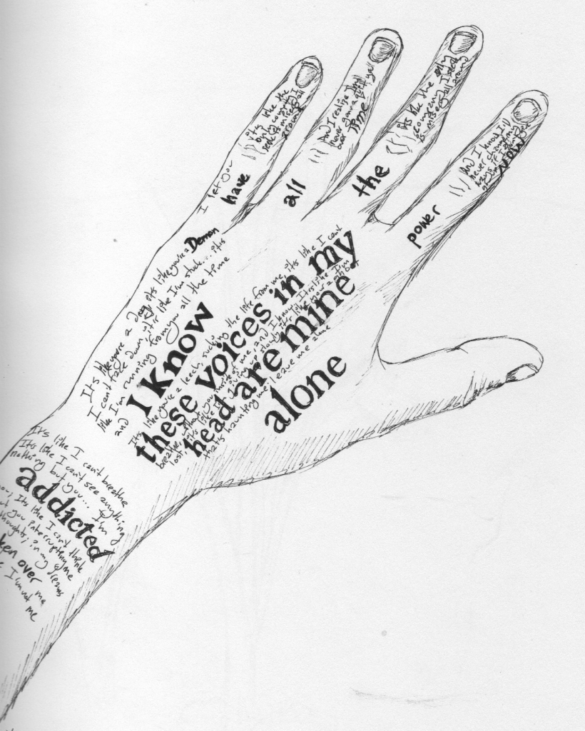 820x1024 Drawing On Hand With Pen Hole In The Hand
