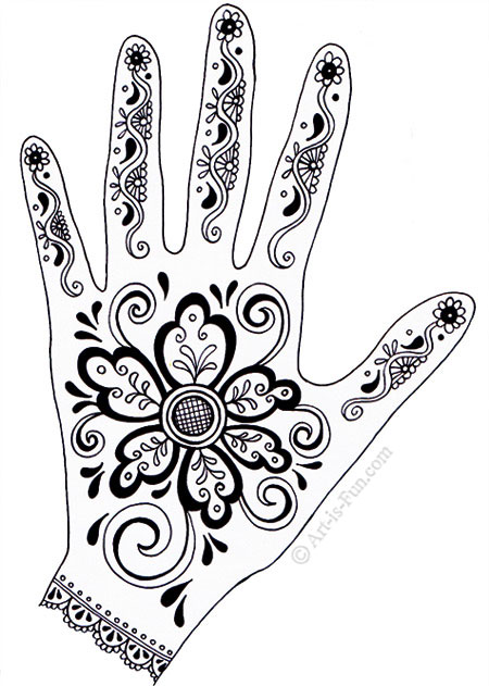 450x631 Henna Hand Designs Art Lesson Make A Unique Self Portrait Art