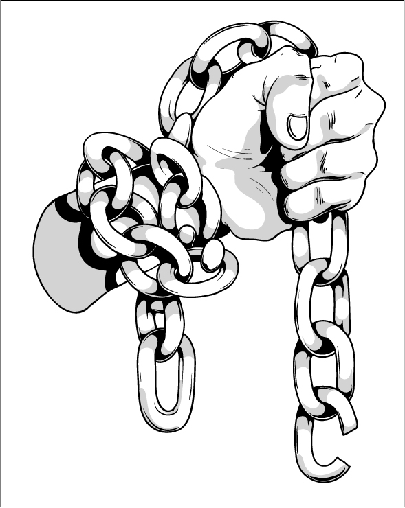 589x740 Hand In Chains By T3hspoon