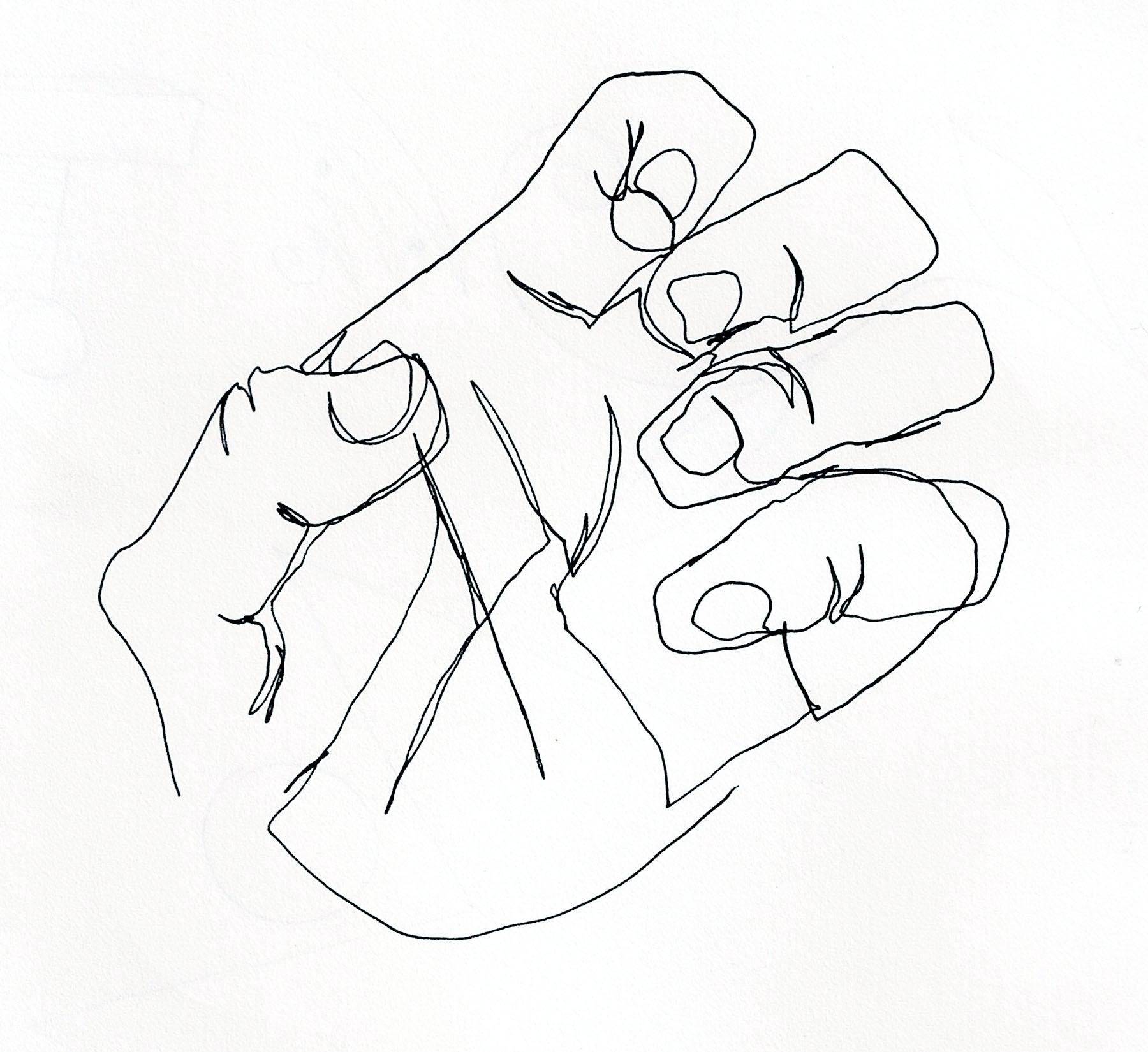 1800x1650 Contour Line Drawing Hand Brian Cho
