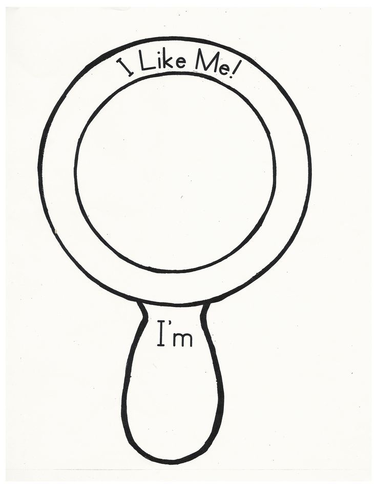 736x952 I Like Me Mirror Template Sketch Coloring Page Kids39 Stuff