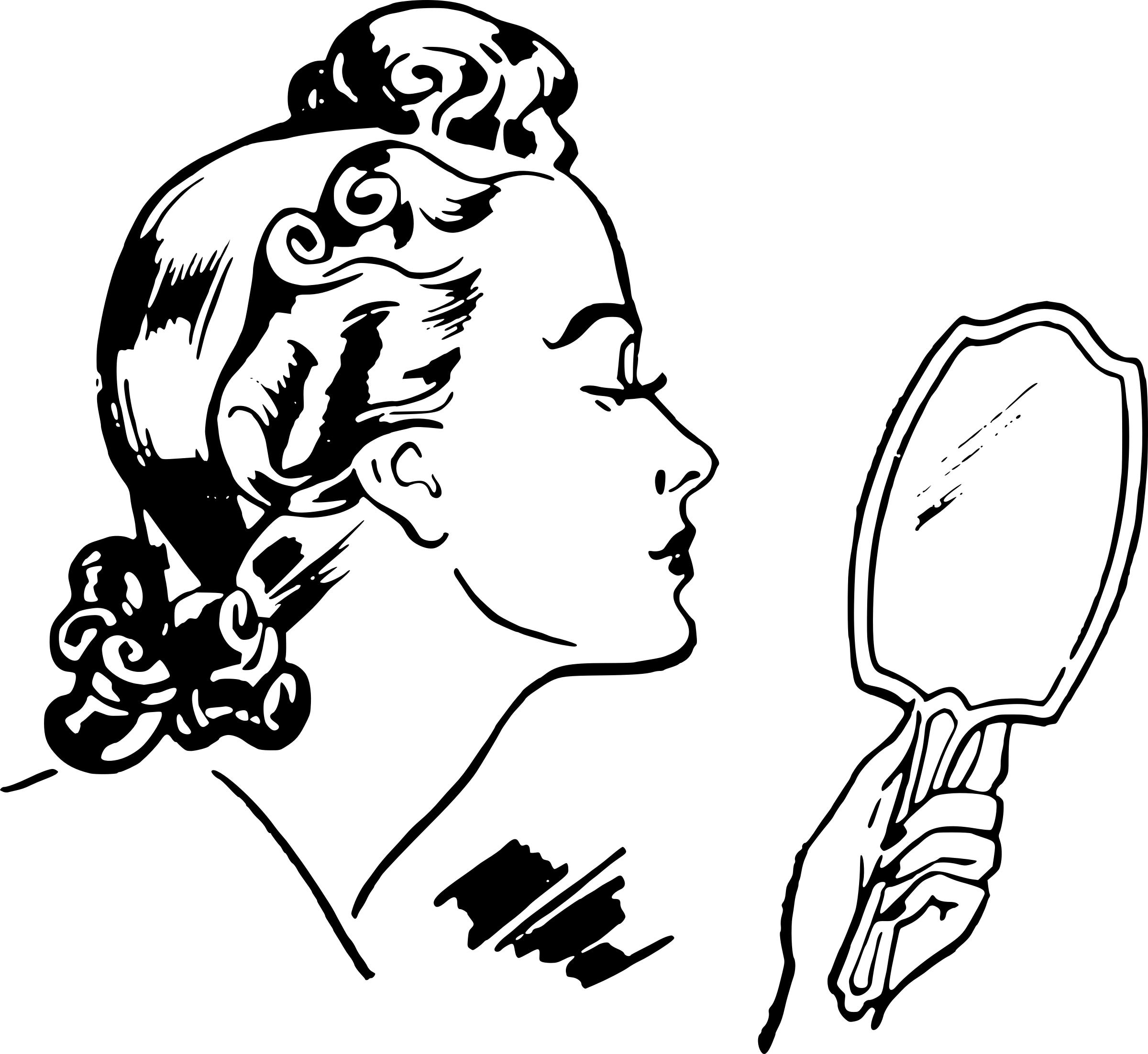 hand holding antique mirror. 2400x2204 Lady With Hand Mirror Icons PNG Holding Antique