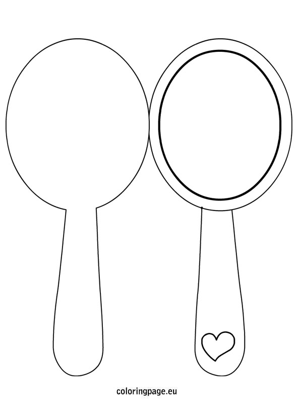 Hand Mirror Drawing at GetDrawings.com | Free for personal ...