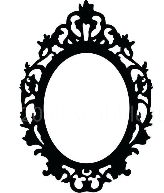 570x669 Oval Mirror Frames Vintage Oval Mirror Frame Vector Illustration
