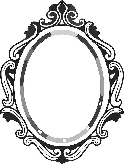 481x640 Line Drawing Mirror Frame Clipart Panda