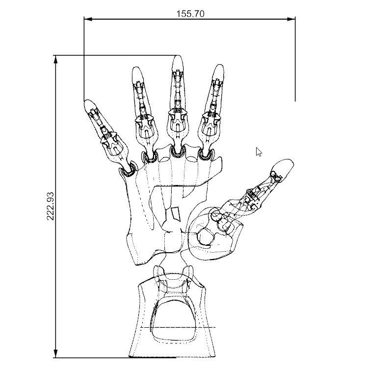 750x750 Biomimetic Articulated Hand 3d Model In Mechanical Parts 3dexport