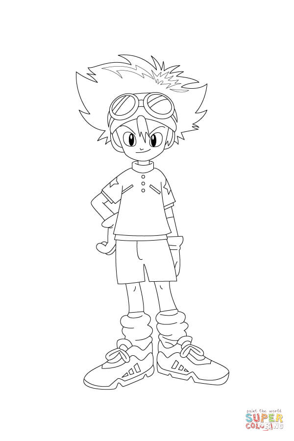 600x900 Tai Is Waiting Patiently, With A Hand On His Hip Coloring Page