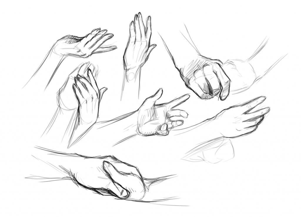 1024x738 Drawn Hand Gesture Hand Sketch
