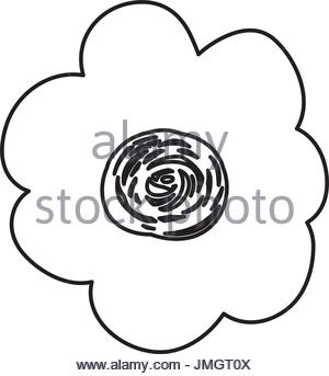 300x343 Vector Illustration Outline Drawing Hand Isolated On White Stock