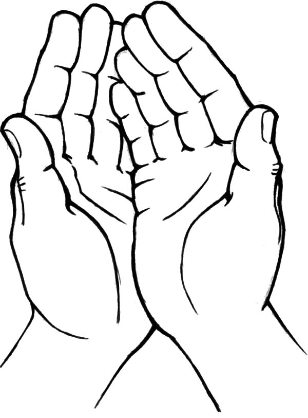 Hand Outline Printable