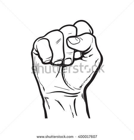 450x470 Drawn Fist Simple