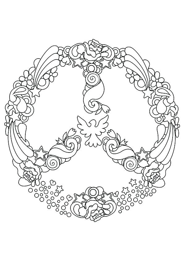 595x842 Peace Coloring Page Peace Sign Hippie Coloring Pages Word Peace
