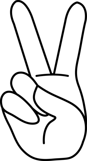 297x550 Peace Hand Sign Line Art Bodies 2 Peace, Peace