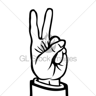 Hand Peace Sign Drawing at GetDrawings com | Free for