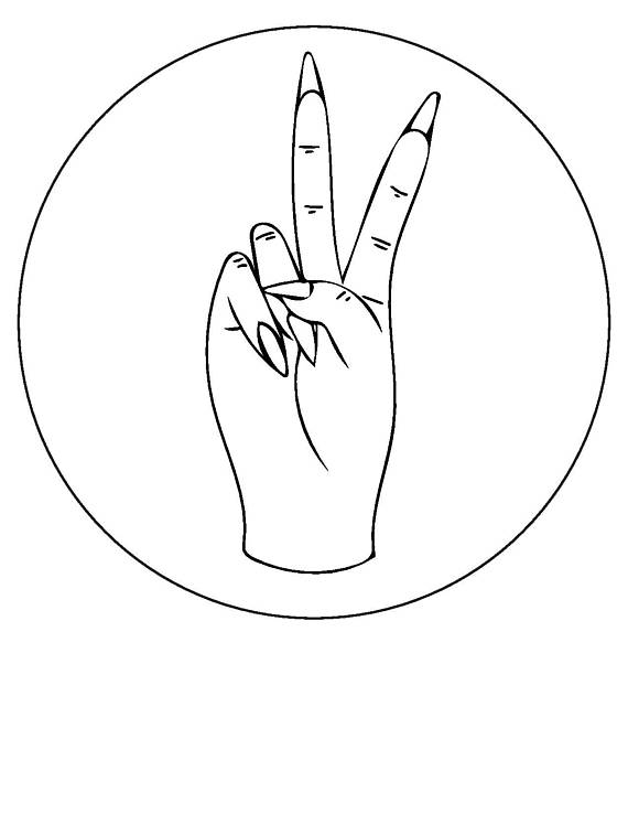 570x738 Peace Sign Hand Embroidery Pattern Beginner Embroidery