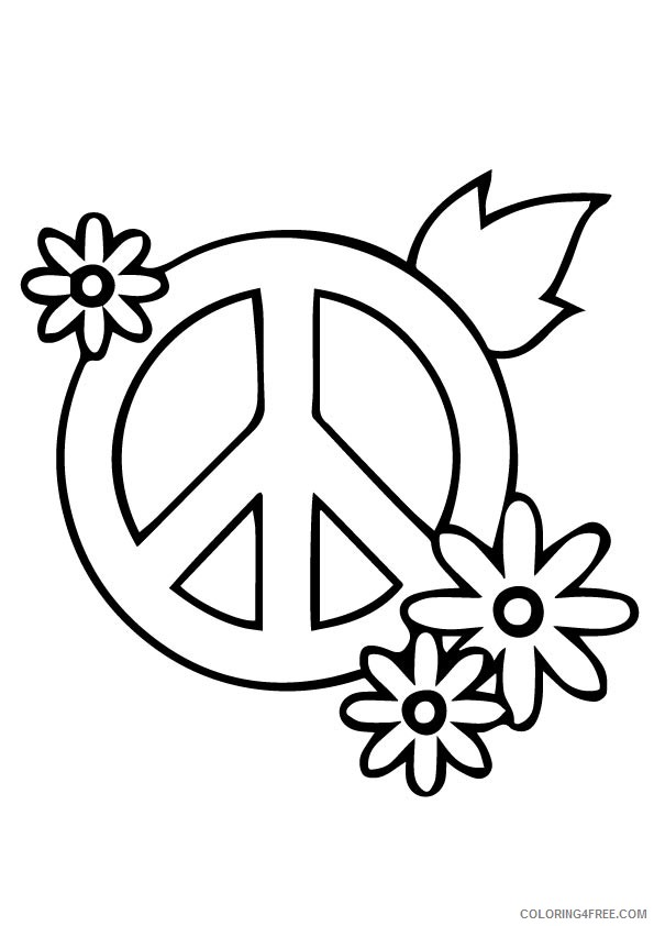 595x842 V Hand Peace Sign Coloring Pages Coloring4free
