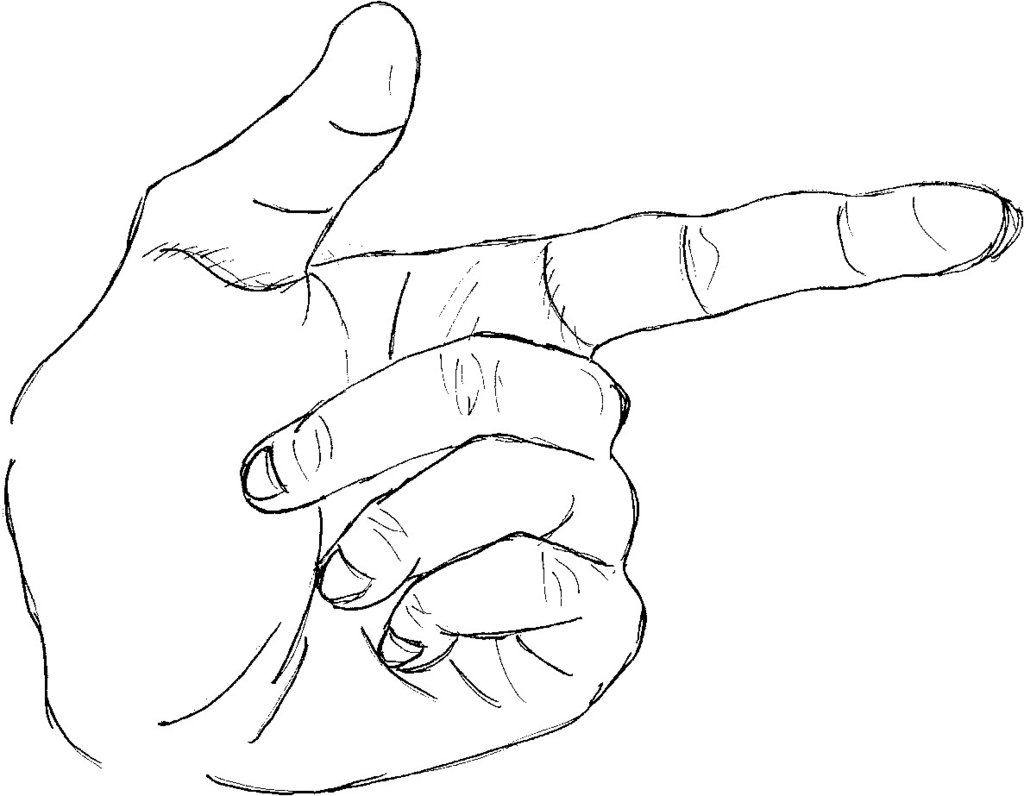 1024x796 Drawn Hand Gesture Left Hand Drawing