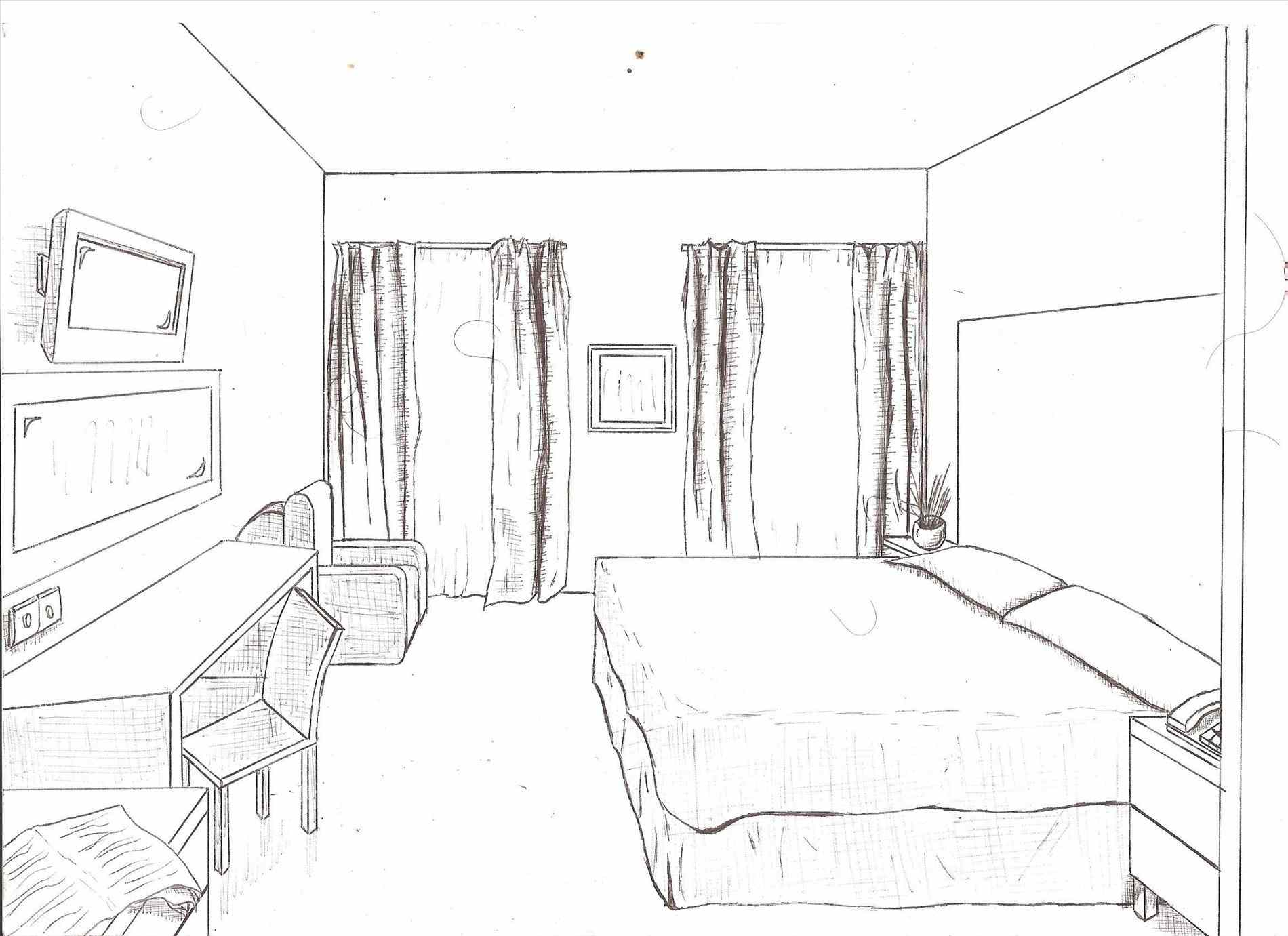 1900x1381 Sofa House Art Floor Plan And Onepoint Perspective Line Hand