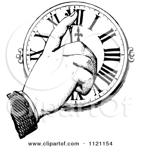 450x470 Clipart Of A Black And White Pointing Hand