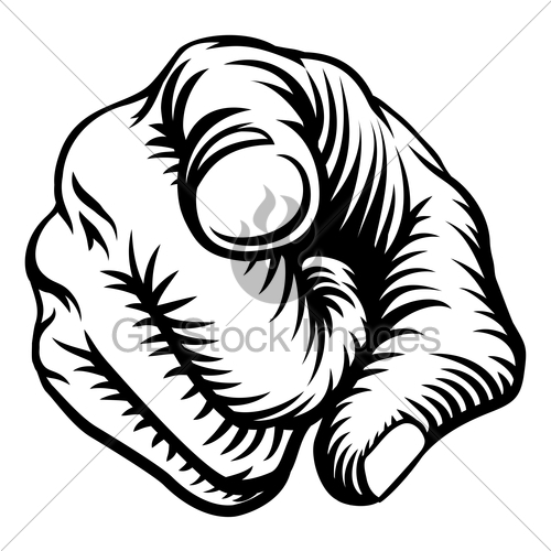 500x500 Finger Pointing Hand Fist Wants You Gl Stock Images