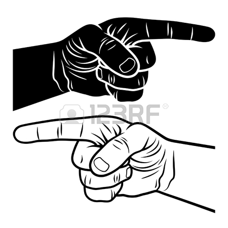450x450 Pointing Hand. Vector Illustration Of A Pointing Finger. Hand