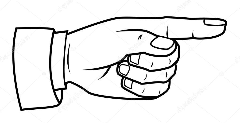 1022x524 Pointing Finger Stock Vector Funwayillustration