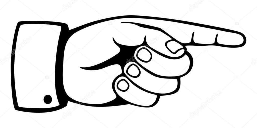 1024x512 Pointing Finger Stock Vector Studio
