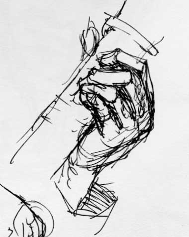 380x476 Sketching Musical Hands While They'Re Playing Guitar