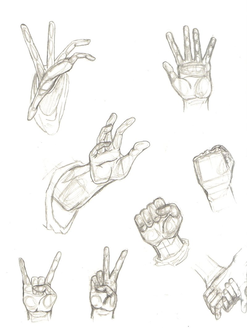800x1069 Sketchy Hand Positions By Priie