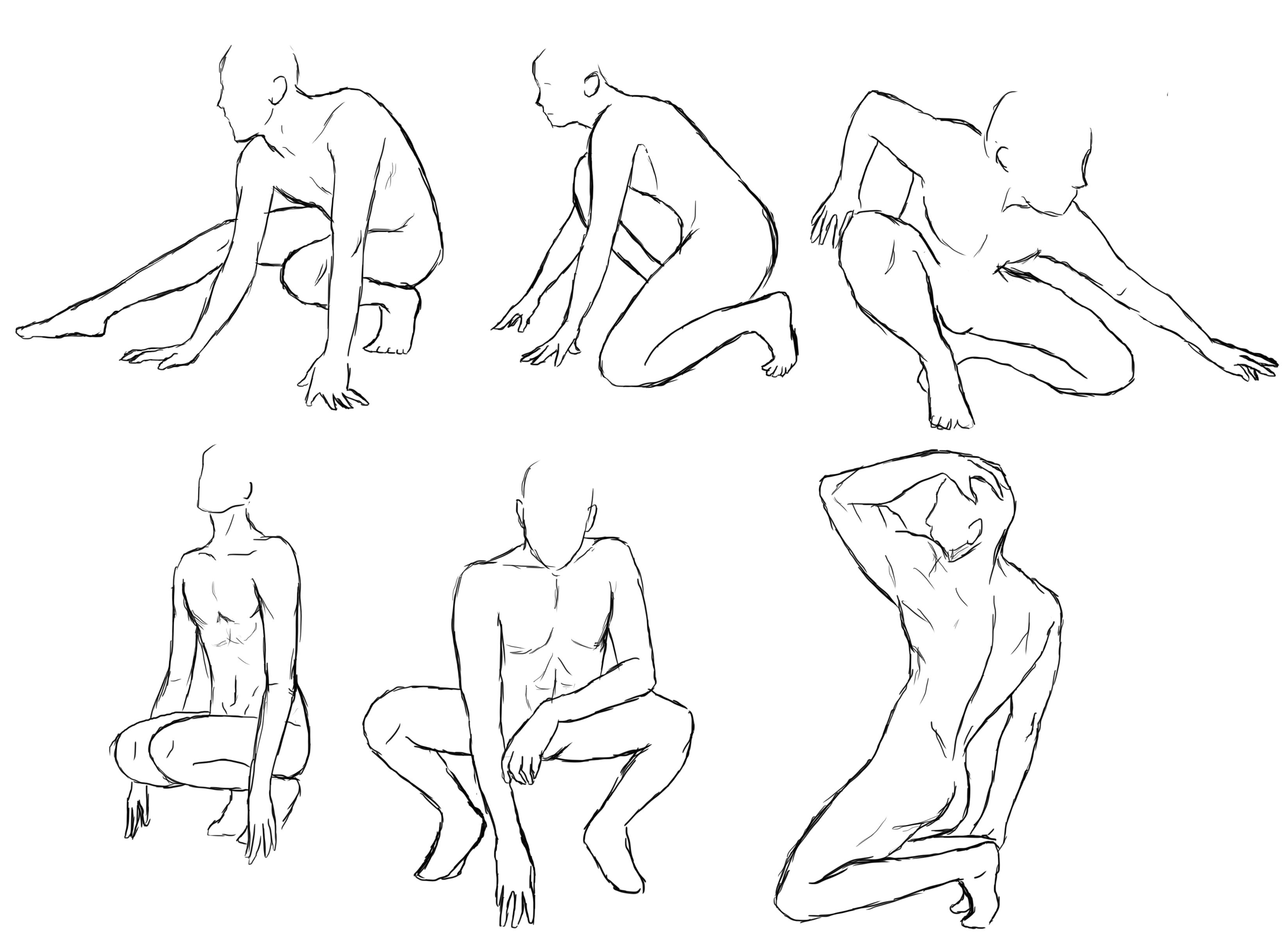 3296x2411 Superhero Sketch Poses